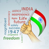 Indian Independence Day background. — Stockvektor