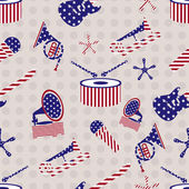 Seamless pattern for 4th of July, American Independence Day. — Stock Vector