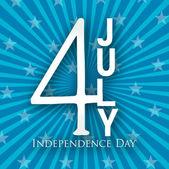 4 temmuz bağımsızlık günü arka plan. — Stok Vektör
