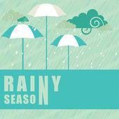 Abstract rainy season background. — Stock Vector