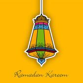 穆斯林社区圣月的斋月贾巴尔的概念. — 图库矢量图片