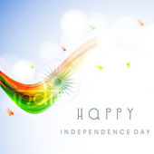 Happy Indian Independence Day background with national flag colo — Stock Vector