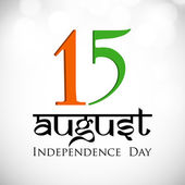 Indian Independence Day background with text 15 August on grey b — Stock Vector