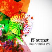 Indyjski Dzień Niepodległości flagi narodowej kolory tła z popiołu — Wektor stockowy