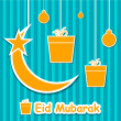 Abstract Muslim community festival Eid Mubarak background. — Stock Vector