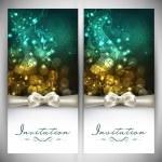 schöne floral dekorierten Einladungskarten — Stockvektor
