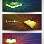 Website header or banner set for Muslim community holy month Ram — Stock Vector