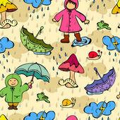 Seamless monsoon season background. — Stock Vector