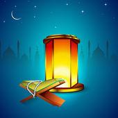 Concept for Muslim community Holy Month of Ramadan Kareem. — Stock Vector