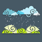 Abstract rainy season background. — Stock Vector