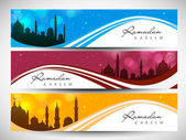 Website header or banner set for Muslim community holy month Ram — Stock Vector