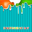 15th August Indian Independence Day background.  — Stock Vector
