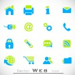 3D web 2.0 mail icons set can be used for websites, web applicat — Imagen vectorial
