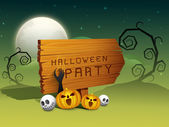 Happy Halloween background. — Stock Vector