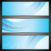 Website header or banner set. — Stock Vector