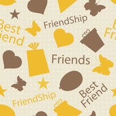 Happy Friendship Day background or concept. — Stock Vector