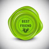 Gelukkig vriendschap dag achtergrond of concept. — Stockvector