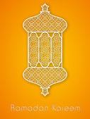 Svatý měsíc muslimského společenství ramadán kareem pozadí. — Stock vektor