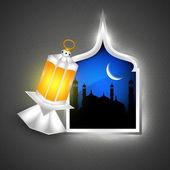 Heilige maand van de Islamitische Gemeenschap ramadan kareem achtergrond. — Stockvector