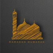 Heliga månaden i den muslimska gemenskapen ramadan kareem bakgrund. — Stockvektor