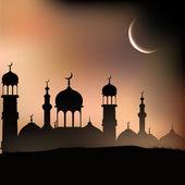 świętego miesiąca społeczności muzułmańskiej ramadan kareem tło. — Wektor stockowy