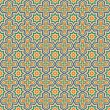 Seamless background with Arabic or Islamic ornaments style patte — Imagen vectorial
