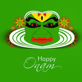 South Indian festival Onam wishes background — Vector de stock
