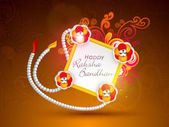 Happy Raksha Bandhan Indian festival background . — Stock Vector