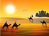 圣月穆斯林斋月贾巴尔背景. — 图库矢量图片