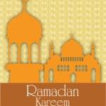 Holy month of Muslim community Ramadan Kareem background. — Stock Vector #29019845