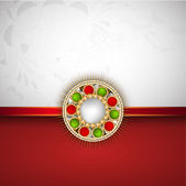 Happy Raksha Bandhan Indian festival background . — Vettoriale Stock