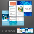 Professional business three fold flyer template, corporate brochure or cover design, can be use for publishing, print and presentation. — Stock Vector #29027783