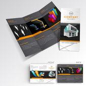 Profesionales de negocios tres doble volante plantilla, folleto corporativo o diseño de la cubierta, puede ser uso para la publicación, impresión y presentación. — Vector de stock