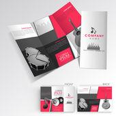 Profesionální obchodní tři krát flyer šablony, firemní brožury nebo obalový design, lze použít pro vydavatelství, tisk a prezentaci. — Stock vektor