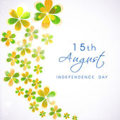 15th of August Indian Independence Day background. — Stock Vector