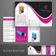 Stock Vector: Professional business three fold flyer template, corporate brochure or cover design, cbe use for publishing, print and presentation.