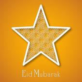 Społeczności muzułmańskiej festiwal eid mubarak tło. — Wektor stockowy