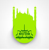 Muslim community festival Eid Mubarak background. — Vector de stock