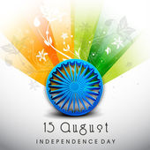 15 de agosto, India fondo de día de la independencia. — Vector de stock
