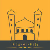 Communauté musulmane festival eid mubarak background. — Vecteur