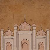 Comunidade muçulmana festival eid mubarak fundo. — Vetor de Stock