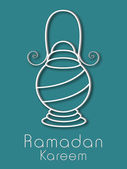 イスラム教徒のコミュニティ ラマダン カリーム背景の聖なる月. — ストックベクタ
