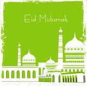 Müslüman topluluk festival eid mubarak arka plan. — Stok Vektör