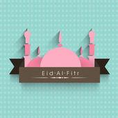 Muslim community festival Eid Mubarak background. — Stok Vektör