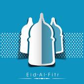 Muslim community festival Eid Mubarak background. — Stock Vector