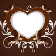 Happy Valentine's Day background with floral decorative heart sh — Imagen vectorial