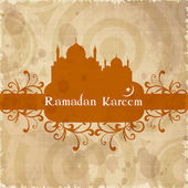 Holy month of Muslim community Ramadan Kareem background. — Stock Vector