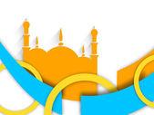 Den muslimska gemenskapen festival eid mubarak bakgrund. — Stockvektor