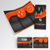 Professional business three fold flyer template, corporate brochure or cover design, can be use for publishing, print and presentation. — Vector de stock