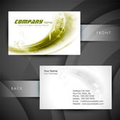 Professional and designer business card set or visiting card set. EPS 10. — Stock Vector